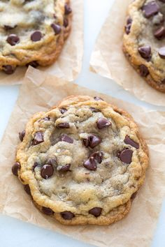 Big, Soft, Chewy Chocolate Chip Cookies with Sea Salt