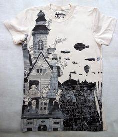 T-shirt dark houses