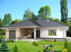 DOM.PL™ - Projekt domu HG-H7 CE - DOM AL1-88 - gotowy koszt budowy Better Homes, Planer, Shed, Exterior, Outdoor Structures, How To Plan, Outdoor Decor, House, Home Decor