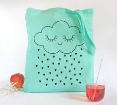 DIY? Bright sky+Sunshine on the other side! Tote bag Tenderness / mint - Zü