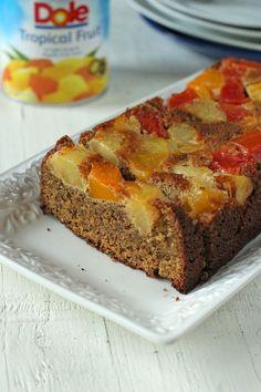Prueba este fácil y delicioso Pastel de almendras y frutas sin gluten #VidaDole #Ad
