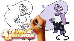 How to Draw Amethyst (Steven Universe) Step by Step Art Lesson