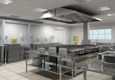 Restaurant Kitchen Lighting global requirements - industrial & restaurant kitchens | big style