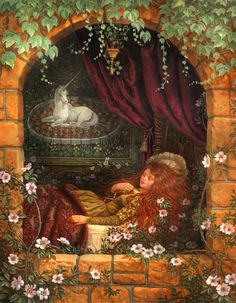 Most popular tags for this image include: art, fairy tale, painting, beauty and ruth sanderson