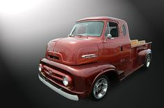 Ford, all American, early 50's, Cab over Engine pickup truck, what a time capsule!  I believe this one setting on a modern 4 x 4 platform.  Good Guys Del Mar, California