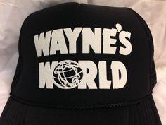 9b76bfb0233 Wayne s World Hat Cap Trucker Hat New Black