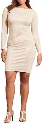 Lauren Ralph Lauren Plus Selene Metallic Jersey Dress, Plus Size Dresses. Atemberaubende Abendkleider. Amazing dresses for the evening, for cocktail partys...nice dress sizeplus, grosse Grössen, big size