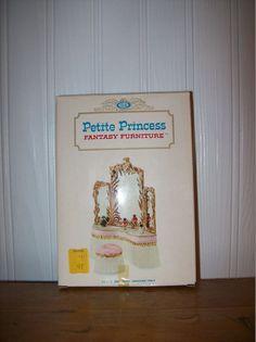 All original, Ideal 1964, Petite Princess, Royal Dressing Table! #Ideal