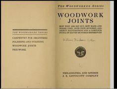 Ah! E se falando em madeira...: livros de  marcenaria     I  -   junções