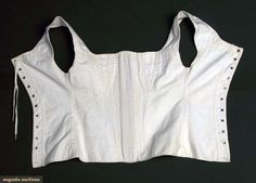 Augusta Auctions, April 17, 2013 - NYC, Lot 193: Girls Cotton Corset, 1830s
