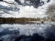 Ternavasso lake infrared color by StegoPhotoStore on Etsy, €7.90