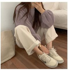 Ulzzang Girl Fashion, Style Ulzzang, Kfashion Ulzzang, Look Fashion, Fashion Outfits, Fashion Tips, Fashion Styles, Cool Outfits, Casual Outfits