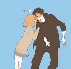 Manga Couple, Anime Couples Manga, Cute Anime Couples, Anime Love, Blue Anime, Manga Art, Manga Anime, Anime Art, Otp