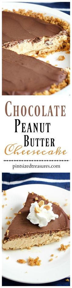 A creamy cheesecake with a sweet and salty, gluten-free crust! Chocolate peanut butter cheesecake is a family fave around here --- and your crew will love it too! It's made from scratch, super-yummy and includes all the fave dessert flavors on the planet. Dive into a slice today!