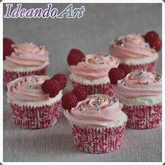 Cupcakes de cava con frambuesas para Nochevieja