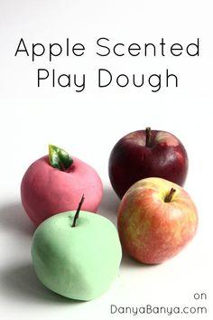 Apple Scented Play Dough for #sensory play. #playdough