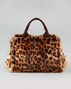 Fur Top Handle by Prada