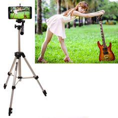 Aluminium Camera Stand Tripod Holder+Wireless Bluetooth Control For Samsung Galaxy Note 4 3 2 N9100 N9000 N7100