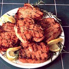 Barbecued+Pork+Chops+with+Rosemary+Lemon+Marinade