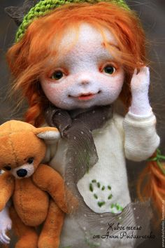 Collectible dolls handmade.  Fair Masters - handmade.  Buy Arishka goes in search of spring.  Handmade.  Red-haired girl