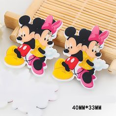 50pcs/lot 40*33MM Kawaii Cartoon Little Mouse Flatback Resin Planar DIY Craft Resina For Home Decoration Accessories DL-439