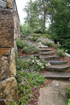 Stone steps & wall by Pandorea..., via Flickr