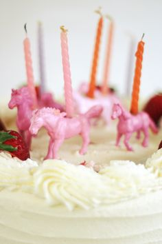 DIY Plastic Animal Candles Horse Birthday Parties 4th Cake