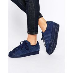 adidas Originals Superstar RT Tonal Night Indigo Trainers ($105) ❤ liked on Polyvore featuring shoes, sneakers, indigo shoes, adidas originals sneakers, adidas originals trainers, adidas originals and adidas originals shoes