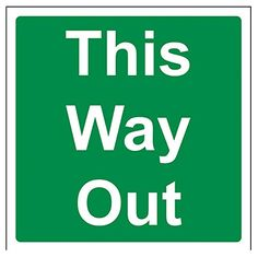 Cheap VSafety quotThis Way outquot Safe Condition Door Sign Rigid Plastic Square 150 mm x 150 mm Green deals week