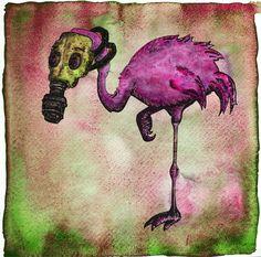 Gas Mask Flamingo