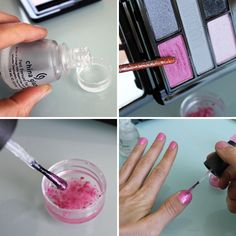 Turn Your Eyeshadow into Lip Gloss, Nail Polish & Temporary Tattoos - Brit & Co. - Style