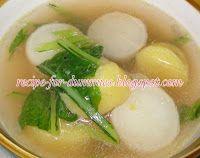 Resepi dalam pantang : Sup Lobak Putih