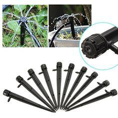 King Do Way 20�St�ck verstellbar Flow Micro Spray Garten Pflanzen Wasser Rasen Bew�sserung System K�pfe Tropfer Spritze Sprinkler schwarz