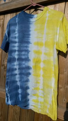 Check out this item in my Etsy shop https://www.etsy.com/listing/196336703/blue-and-yellow-tie-dye-shirt
