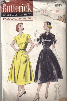 Butterick 6017: not sure if I love or hate that collar.