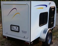 If you have been shopping around for a new teardrop trailer, but are put off by higher prices, check out New Wave Teardrops in Bainbridge,. Teardrop Trailer For Sale, Teardrop Trailer Plans, Mini Caravan, Small Camper Trailers, Teardrop Camping, Small Campers, Campers For Sale, Travel Trailer Living, Travel Trailer Camping