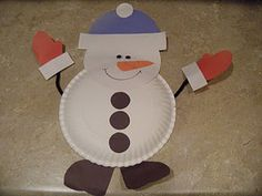 December 5, 2011 - Paper plate snowman: the kids made these this afternoon.  They loved the idea and it kept them busy for a good hour.  There are lots of other great ideas on this site too including a reindeer that uses hand prints as antlers.