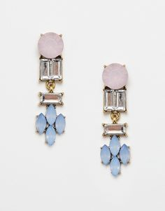 Nali Statement Multi Gem Drop Earrings