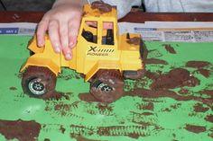House of Baby Piranha: Muddy Tractor Painting