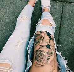 Tus muslos son la mejor zona para tatuarte.
