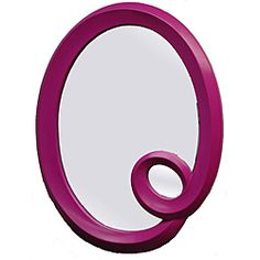 @Overstock - Amaze visitors when they see this unique oval framed mirror hanging in your home. Featuring a wooden frame with an elegant loop and deep pink color, this mirror makes a statement about style and quirkiness whether you place it in a hallway or bedroom.http://www.overstock.com/Home-Garden/Pink-Oval-Framed-Mirror/6209789/product.html?CID=214117 $164.99