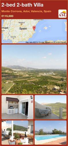 2-bed 2-bath Villa in Monte Corrona, Ador, Valencia, Spain ►€115,000 #PropertyForSaleInSpain