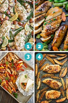 16 Favourite Sheet Pan Dinners - Great way to put a healthy meal on the table quickly! Great for weekdays and busy moms!