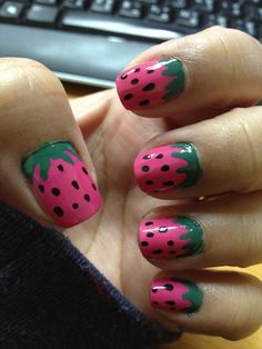 Food Nail Art Design | The latest nail decoration, basic nail design techniques, processes ...