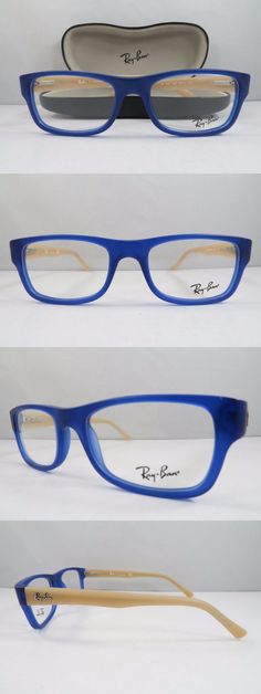 0be2531e97e Eyeglass Frames  Ray-Ban Rb 5268 5554 Blue Peach New Authentic Eyeglasses  50Mm W