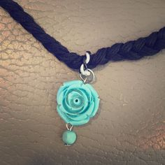 Turquoise rose choker Turquoise choker Jewelry Necklaces