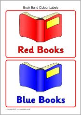 Bathroom Signs Sparklebox book band colour labels/book shelf labels (sb3286) - sparklebox