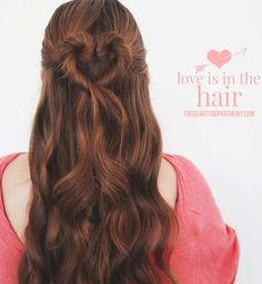 Beautiful heart valentine hairstyle