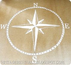 Painted Compass. This Is Done On A Sisal Rug, But Iu0027m Imagining