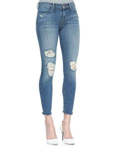 J brand 8226 cropped skinny jeans in fury